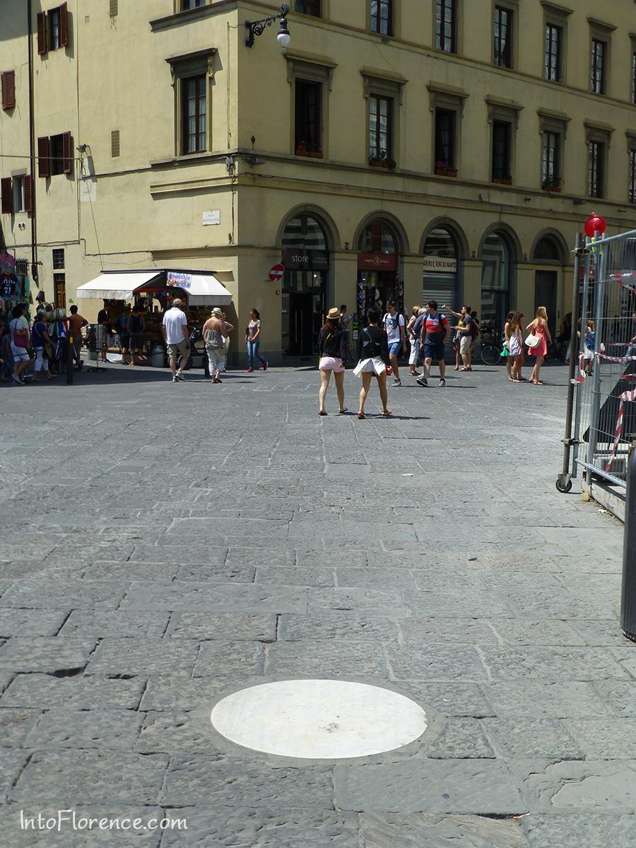 Marble circle Duomo Florence