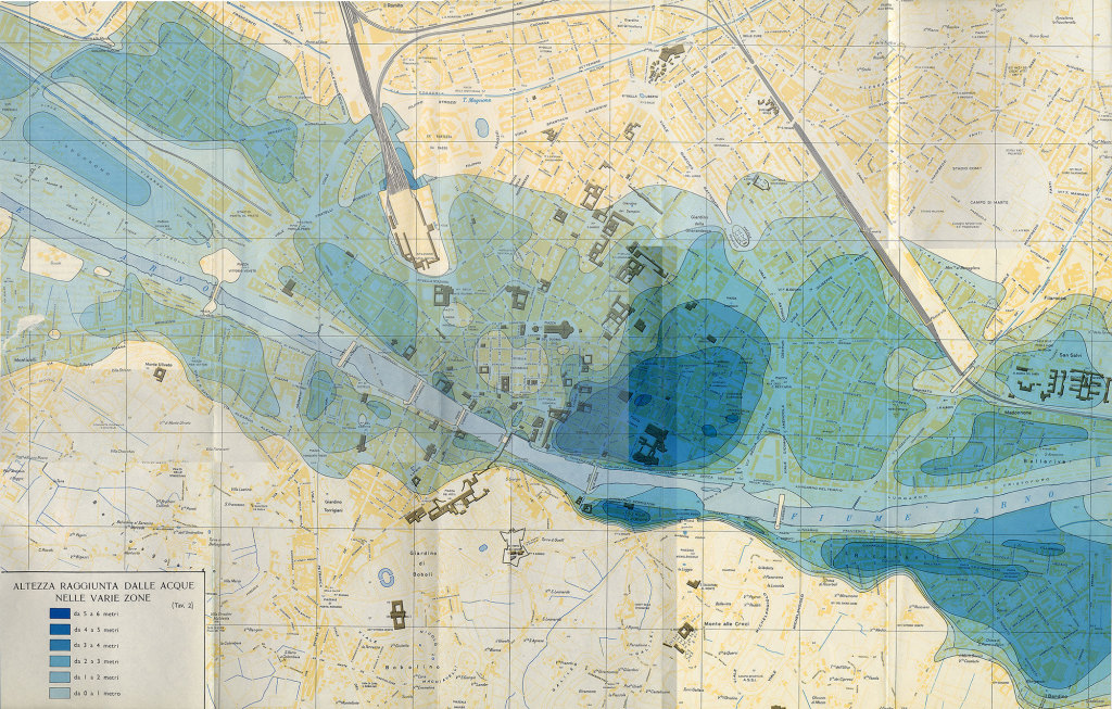 Map of the Florence flood