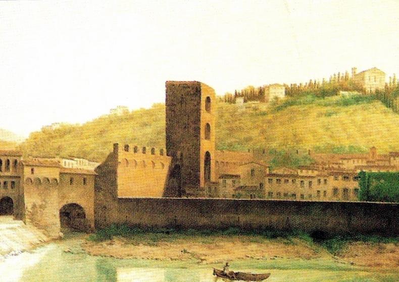 Porta San Niccolò before the demolition of the city walls. By Fabio Borbottoni.